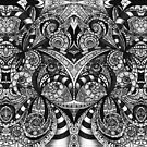 Drawing Floral Zentangle G6B by MEDUSA GraphicART