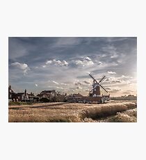Cley next the Sea Norfolk UK  - A Bright Winters Day Photographic Print
