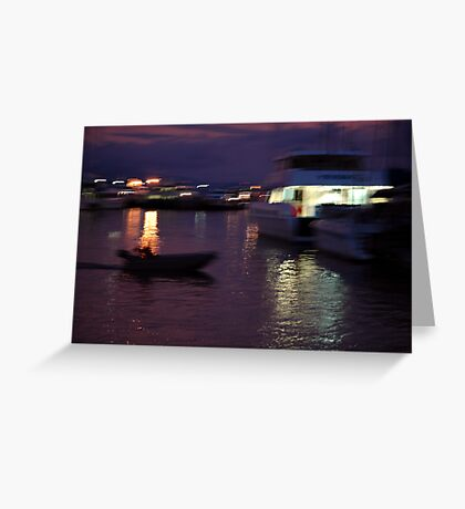 The evening dash.... Greeting Card