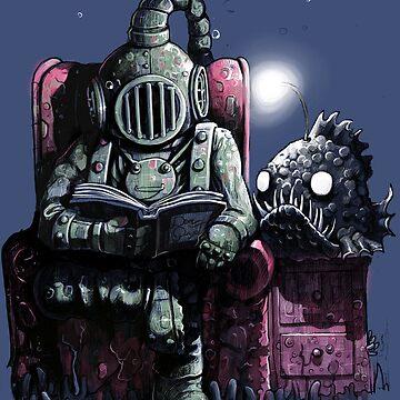 Reading diver by MoisEscudero