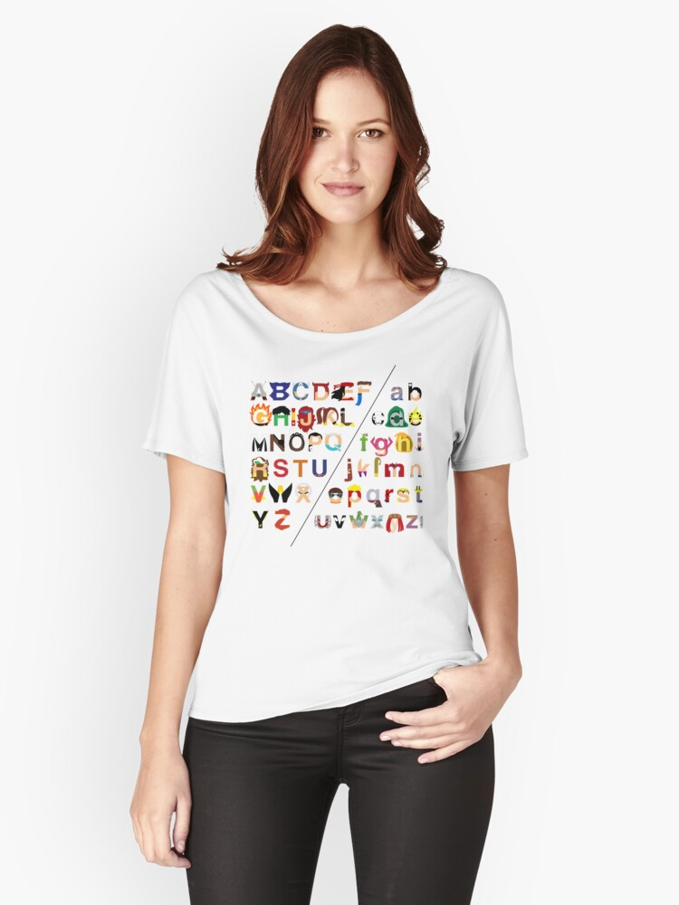 Marvelphabet Women's Relaxed Fit T-Shirt Front