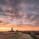 Midwinter Sunrise  -  Tower Windmill  by Jim Key