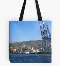 Derricks in Valparaíso. Tote Bag