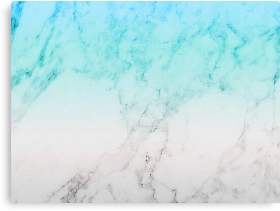 Pastel Blue Marble Wallpaper
