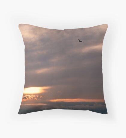 Lonely Wings Throw Pillow