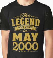 This Legend Was Born In May 2000 18 Year Old Graphic T-Shirt