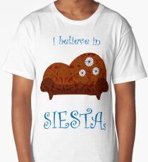 I Believe In Siestas Long T-Shirt