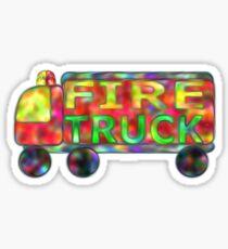 Fire truck text Firetruck Sticker