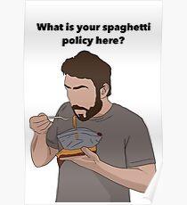 Sunny Spaghetti Design  Poster