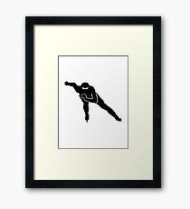 Speed skating Framed Print