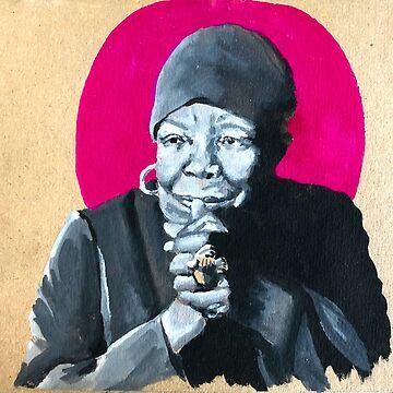 Maya Angelou by sadiesavesit