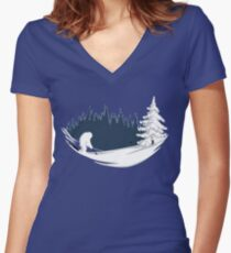 Abominable Golf Women's Fitted V-Neck T-Shirt