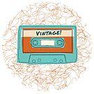 "Retro ""Vintage"" Cassette Tape Design for Music Lovers by SpikyHarold"