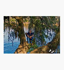 MAN IN A TREE Photographic Print