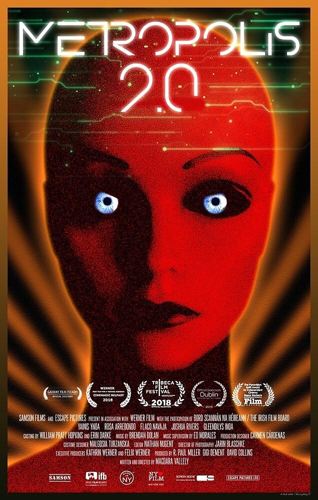 """Metropolis 2.0"" -  Art Deco, Sci-fi Movie Poster by BLTV"