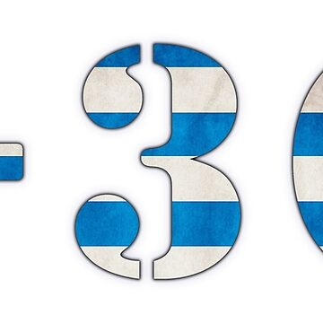 Greece Country Code +30 Tshirt by ChillDesign
