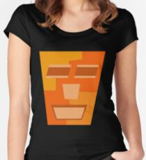 Orange Tripod (Facemadics abstract face colorful contemporary) Fitted Scoop T-Shirt