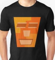 Orange Tripod (Facemadics abstract face colorful contemporary) Slim Fit T-Shirt