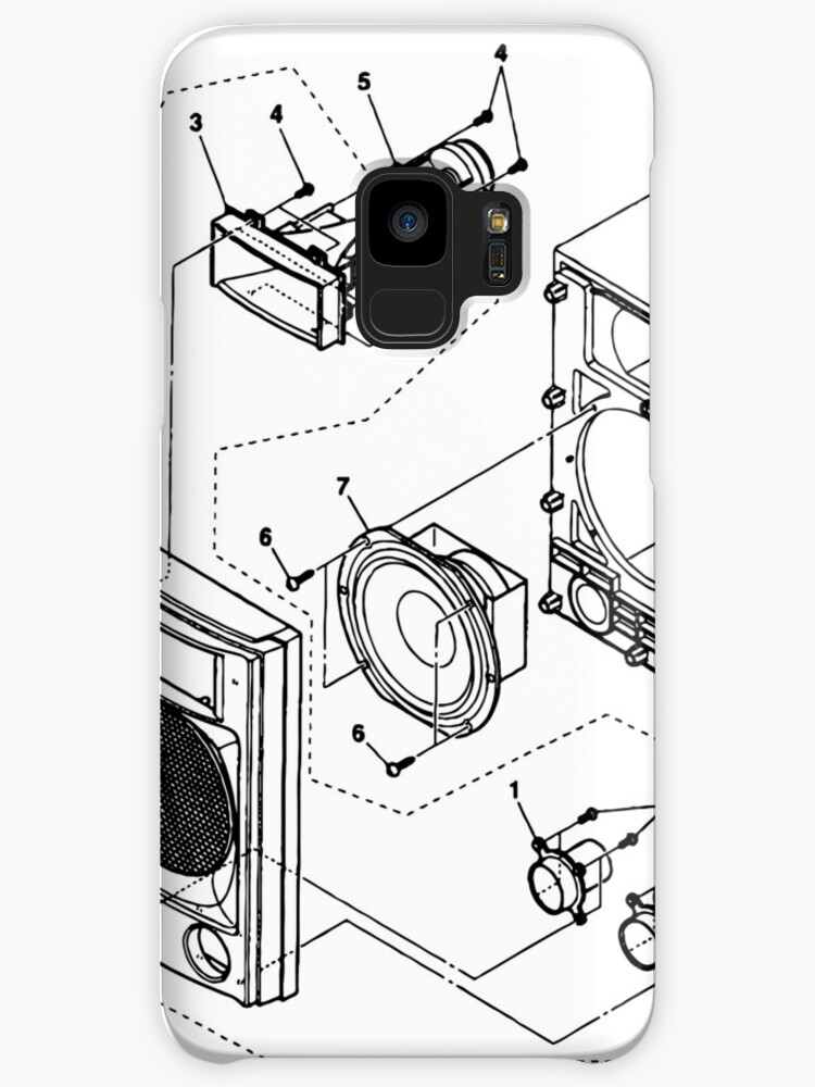 Studio Speaker Blueprint Cases Skins For Samsung Galaxy By