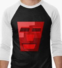 Red Wine (Facemadics colorful contemporary abstract face) Baseball ¾ Sleeve T-Shirt