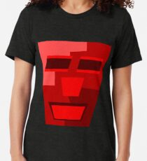 Red Wine (Facemadics colorful contemporary abstract face) Tri-blend T-Shirt