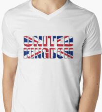 United Kingdom Men's V-Neck T-Shirt