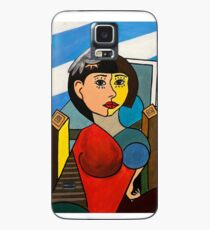 Girl with Bird in the Style of Pablo Picasso Case/Skin for Samsung Galaxy