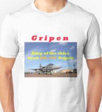 Saab JAS 39 Gripen King of the Skies slogan Unisex T-Shirt