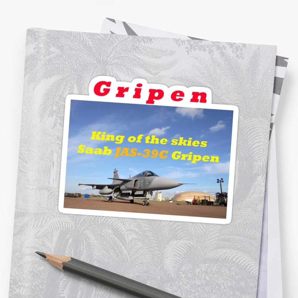Saab JAS 39 Gripen King of the Skies slogan by RedSteve