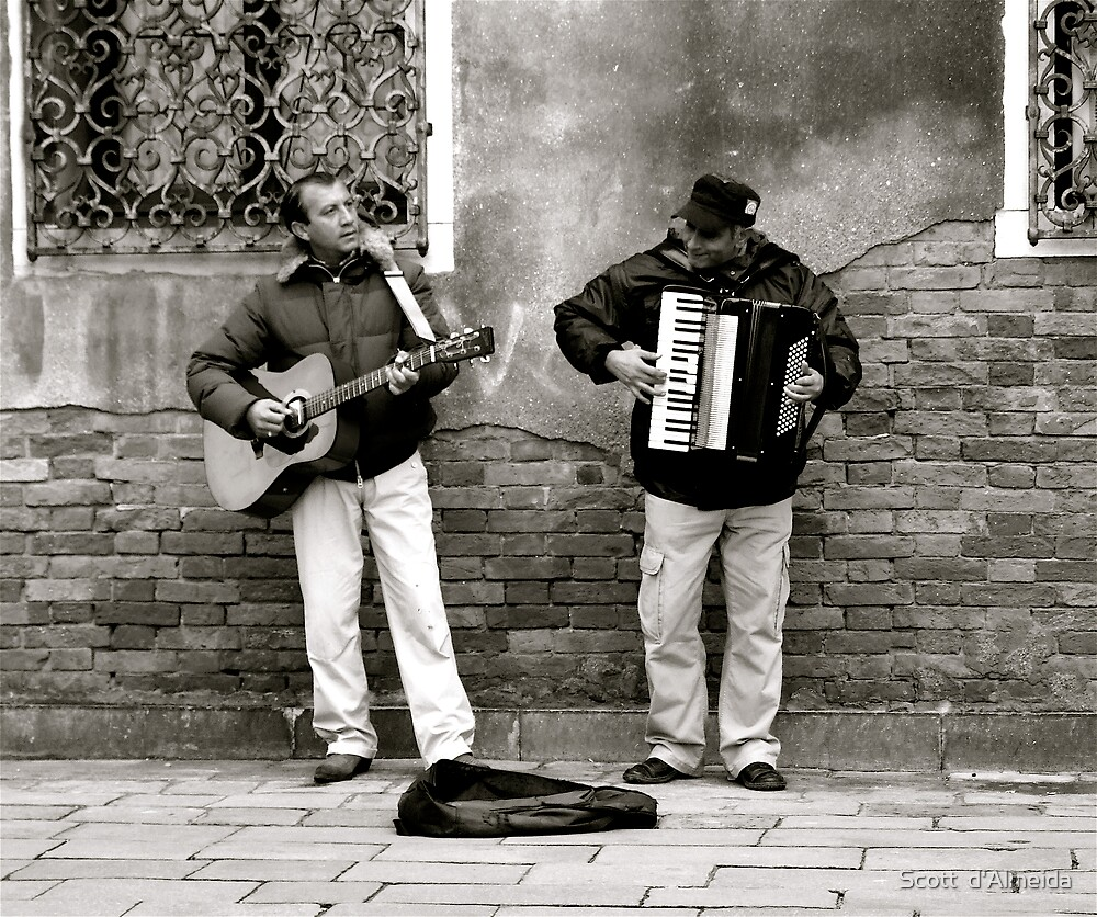 BUSKERS AT WORK (CREATIVITY) by Scott  d'Almeida