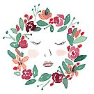 Face in Wreath by Stevie Driscoll