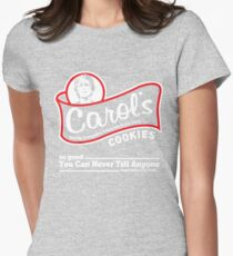 Carol's Cookies. Womens Fitted T-Shirt