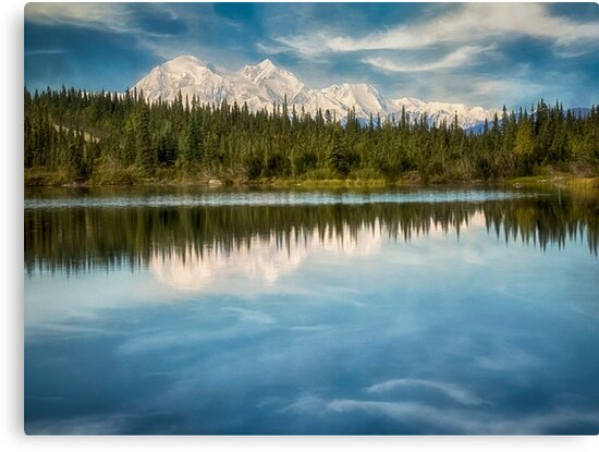 Mt. Denali Reflected - Alaska by Kathy Weaver