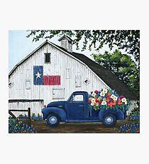 Texan Flower Farm Truck Photographic Print