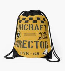 US Navy Aircraft Director CVN-68 novelty design Drawstring Bag