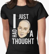 Sophia The Robot - I Just Had A Thought Women's Fitted T-Shirt