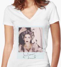 Marina und die Diamanten Tailliertes T-Shirt mit V-Ausschnitt