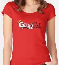 Camiseta entallada de cuello ancho Buena chica (sumisa)