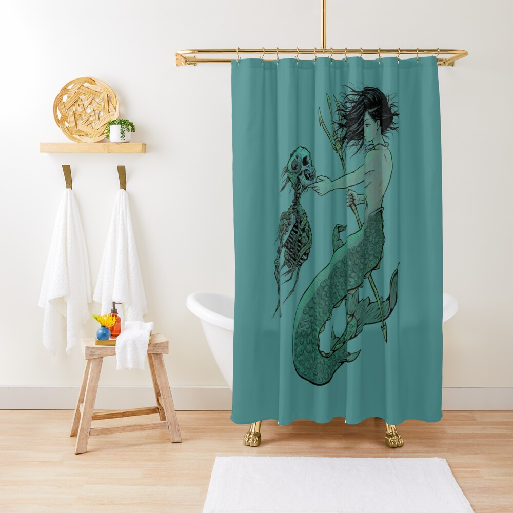 From the Bottom Shower Curtain