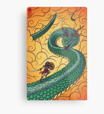Dragons Fight Metal Print