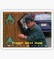 Frogger World Champ Sticker
