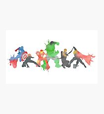 Superheros Photographic Print