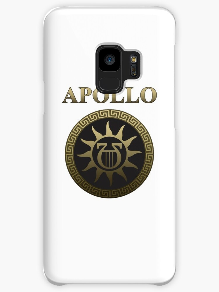 Apollo Ancient Greek God Gold Shield Cases Skins For Samsung