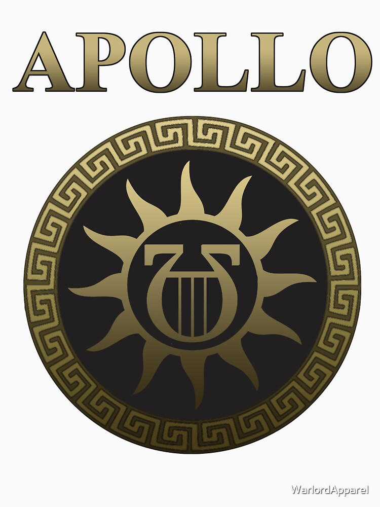Apollo Ancient Greek God Gold Shield Unisex T Shirt By