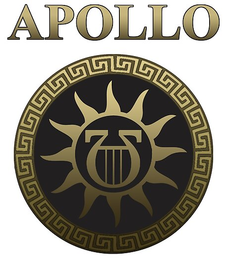 Apollo Ancient Greek God Gold Shield Posters By Warlordapparel