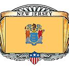 New Jersey Art Deco Design with Flag by Cleave