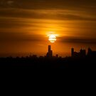 Sunset over Melbourne a week after Black Saturday by Ashley Ng