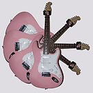 Pink Guitar by Susan A Wilson
