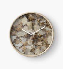 Flaked Camo Clock