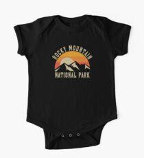 Rocky Mountain National Park Retro T Shirt Short Sleeve Baby One-Piece